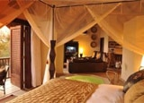 A room at the David Livingstone Safari Lodge and Spa in Livingstone, Zambia