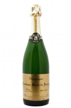 Champagne Paul Bara 1991 Comtesse Marie de Freance Grand Cru Brut has crisp flavors of apple and a long, buttery aftertaste