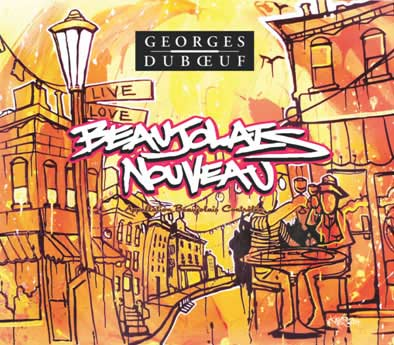 Georges Duboeuf's 2011 Beaujolais Nouveau wine label, designed by Brooklyn artist Michael McLeer