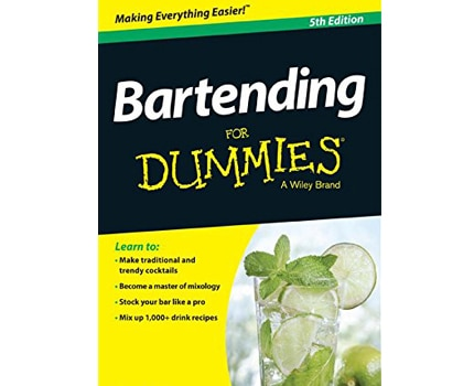 Bartending for Dummies contains more than 1,000 cocktail recipes