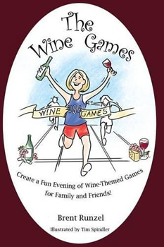 The Wine Games book features wine themed games for family and friends
