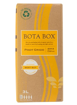 The Bota Box California Pinot Grigio offers fragrant floral and stone fruit aromas