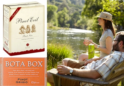 Find the hippest squares to bring to the party on GAYOT's list of the Top 10 Boxed Wines