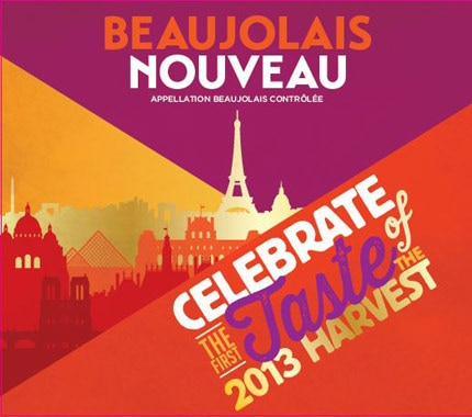 The 2013 label of George Duboeuf Beaujolais Nouveau