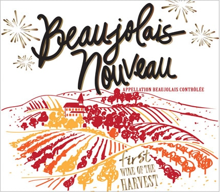 The 2015 label of George Duboeuf Beaujolais Nouveau