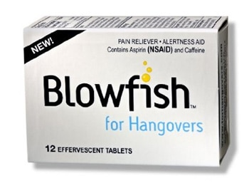 Blowfish for Hangovers combines caffeine with aspirin to keep you alert and ache-free after a long night of drinking