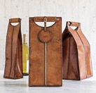 Leather Wine Bottle Carriers by Gump's San Francisco, one of GAYOT's Top 10 Wine Gifts