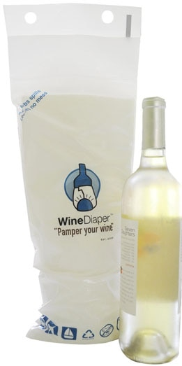 Wine Diaper Reusable Bag