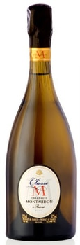 Champagne Montaudon Classe M Brut is made of equal parts Chardonnay and Pinot Noir