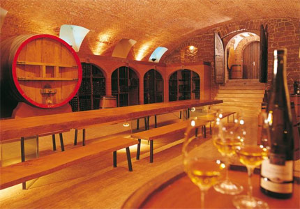 Domaines Schlumberger's wine cellar in Alsace, France