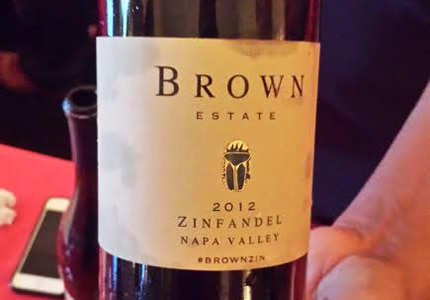 Brown Estate 2012 Zinfandel as tasted at Napa Valley in 80 Sips