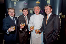 From left to right, Brian Cox, Glenmorangie, Dr. Bill Lumsden, Head of Distilling and Whisky Creation, at Glenmorangie, Chef Pierre Gagnaire and Marc Hoellinger, Glenmorangie