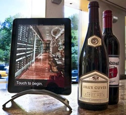 The iPad Wine Tablet at South Gate restaurant in New York City