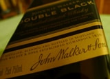 Johnnie Walker Double Black bottle label
