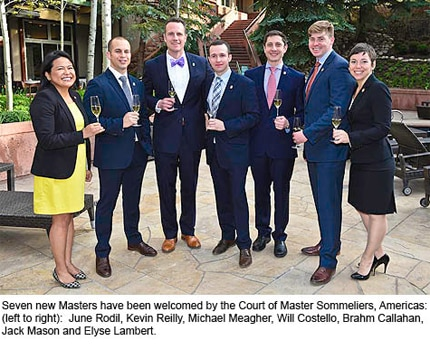 New inductees in The Court of Master Sommeliers, Americas