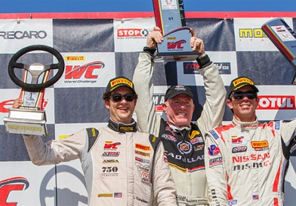 Lorenzo Trefethen, third generation Napa Valley Wine Maker, gets his first win in auto racing