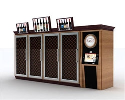 A rendering of the wine vending machine being implemented in Pennsylvania