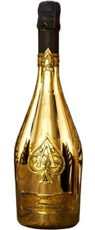 "Champagne Armand de Brignac Brut Gold, one of our Top 10 Prestige ""Tête de Cuvée"" Champagnes"