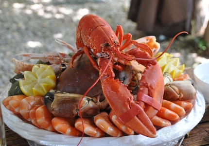 Lobster pairs well with brut sparkling wine