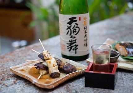 Pair sake with a variety of dishes, such as fresh fish
