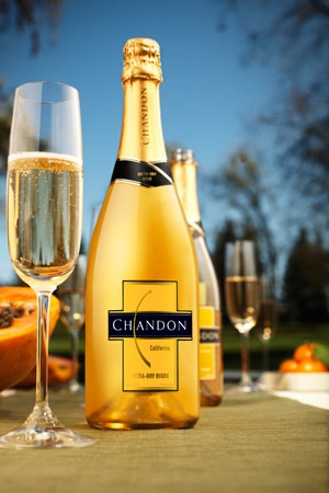 The Extra-Dry Riche from Domaine Chandon features a honeyed, floral bouquet