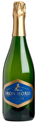 Iron Horse 2004 Brut LD is composed of equal parts Chardonnay and Pinot Noir