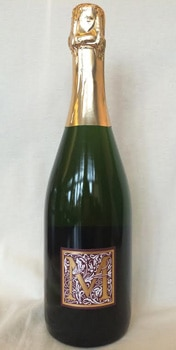 The Mayo Family Winery 2009 Brut Sparkling is a dry yet fruity estate-grown wine