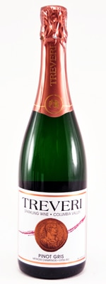 Treveri Cellars Sparkling Pinot Gris features citrus and floral aromas