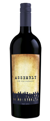 Assembly 2012 Old Vine Zinfandel dsiplays aromas of red berry and cherry