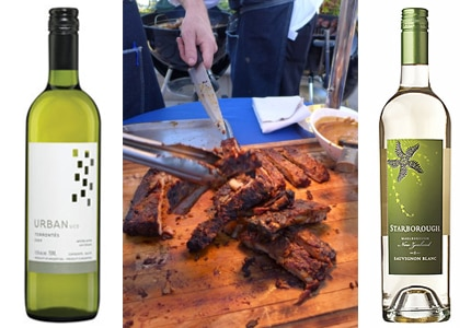 O. Fournier 2012 Urban Uco Torrontes is a great summer wine; David Codney, executive chef at The Roof Garden restaurant in The Peninsula Beverly Hills, dishes up delectable grilled fare; Starborough 2014 Sauvignon Blanc from New Zealand is refreshing chilled