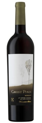 Ghost Pines 2010 Merlot, one of GAYOT's Top 10 Barbecue Wines