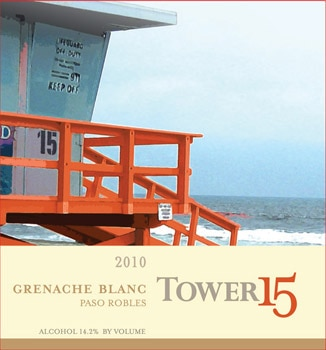 Tower 15 2010 Grenache Blanc, one of our Top 10 Barbecue Wines 2012