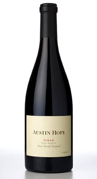 Austin Hope Winery 2005 Syrah, Hope Family Vineyard