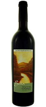 A bottle of Bella Vineyards 2008 Big River Ranch Petite Sirah
