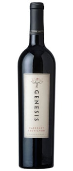 A bottle of Genesis 2007 Cabernet Sauvignon