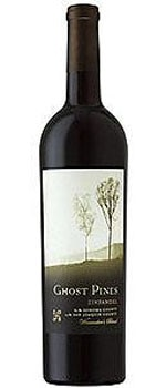 A bottle of Ghost Pines 2009 Zinfandel