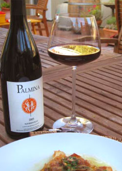 Palmina 2005 Nebbiolo, a perfect red wine to accompany any brunch
