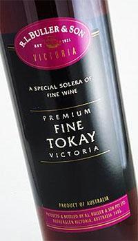A bottle of R. L. Buller & Son Premium Fine Tokay Victoria