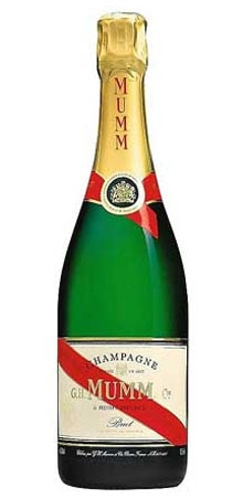Champagne Mumm Cordon Rouge will pair nicely with lamb and chicken