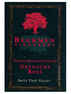 Beckmen Vineyards 2009 Purisima Mountain Vineyard Grenache rose wine, one of our Top 10 Father's Day Wines