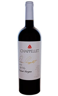 A bottle of Chappellet 2008 Signature Cabernet Sauvignon