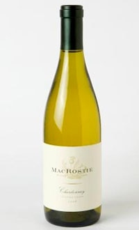 A bottle of MacRostie 2008 Sonoma Coast Chardonnay