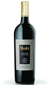 A bottle of Shafer 2008 One Point Five