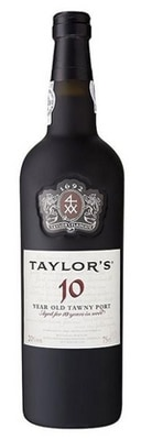 Taylor Fladgate 10 Year Old Tawny Port displays mature fruit flavors with notes of almond and butterscotch