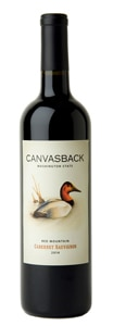 Canvasback 2014 Red Mountain Cabernet Sauvignon has aromas of blackberry and cherry