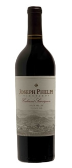 A bottle of Joseph Phelps Vineyards 2008 Napa Valley Cabernet Sauvignon, one of our Top 10 Holiday Wines 2011