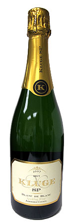 The Kluge Estate SP Blanc de Blancs 2007 is one of our Top 10 Holiday Wines