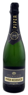 A bottle of Piper Heidsieck Vintage 2004 Champagne, one of our Top 10 Holiday Wines 2011