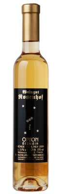 Rosenhof 2009 ORION Eiswein is made with frozen grapes harvested at night