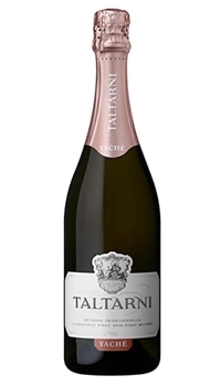 Taltarni 2011 Tache is a sparkling rose with a balanced creamy texture and hints of strawberry and toast
